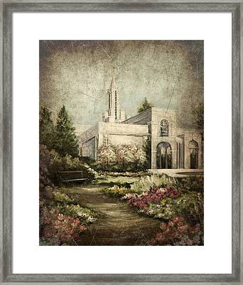 Bountiful Utah Temple-pathway To Heaven Antique Framed Print