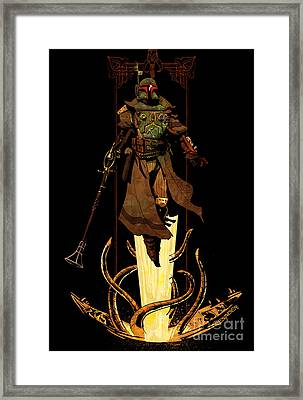 Bounty Hunter Rising Framed Print by Brian Kesinger