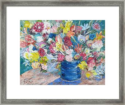 Bouquet 1 - Sold Framed Print by Judith Espinoza