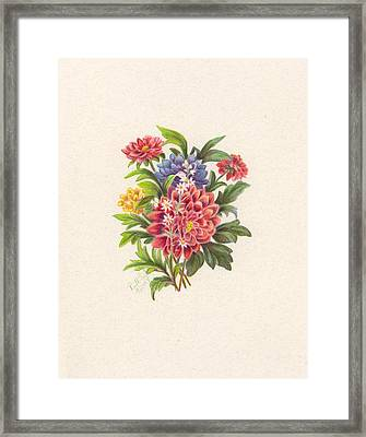 Bouquet 2 Framed Print by Ruth Seal