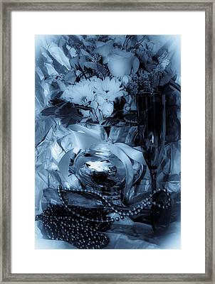 Bouquet And Beads Framed Print by DigiArt Diaries by Vicky B Fuller