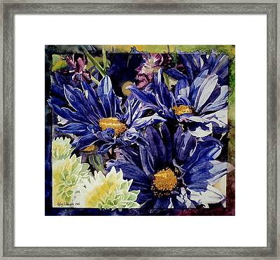 Bouquet Blues Framed Print