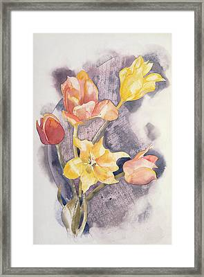Bouquet, C.1923 Wc On Paper Framed Print by Charles Demuth