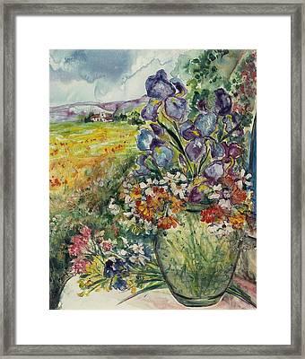 Bouquet De Provence Framed Print
