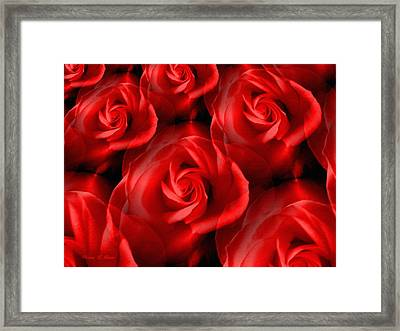 Bouquet For My Valentine Framed Print