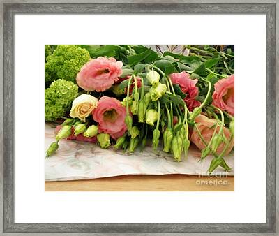 Bouquet In The Making Framed Print by Lainie Wrightson