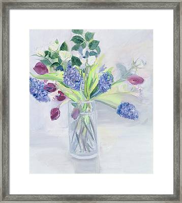 Bouquet  Mixed Bunch Framed Print by Sophia Elliot