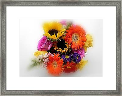 Bouquet Of Color Framed Print