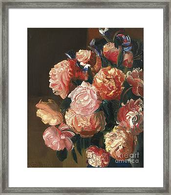 Bouquet Of Flowers Framed Print by Celestial Images