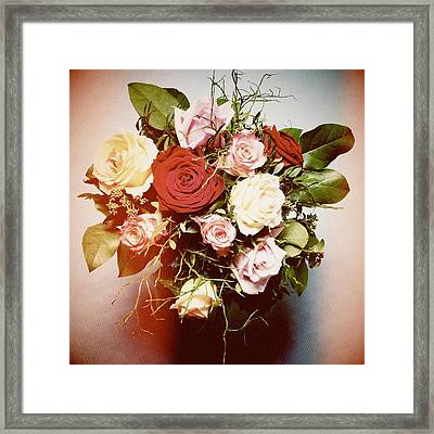 Bouquet Of Flowers Framed Print by Matthias Hauser