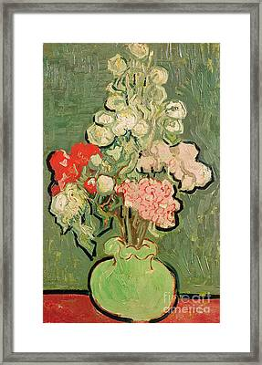 Bouquet Of Flowers Framed Print by Vincent van Gogh