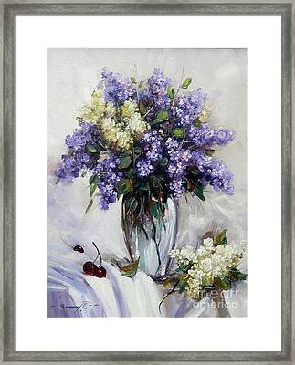 Bouquet Of Lilac Framed Print by Petrica Sincu