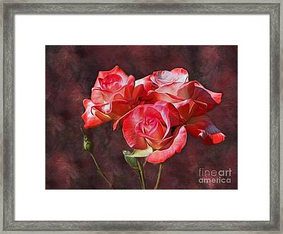 Bouquet Of Roses By Kaye Menner  Framed Print by Kaye Menner
