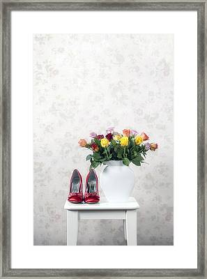Bouquet Of Roses Framed Print by Joana Kruse