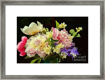 Bouquet Of Summer Flowers Framed Print