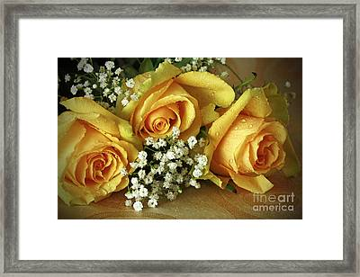 Bouquet Of Sunshine Framed Print by Inspired Nature Photography Fine Art Photography