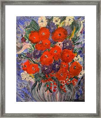 Bouquet Splash Framed Print