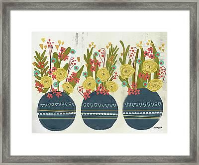 Bouquet Trio Framed Print