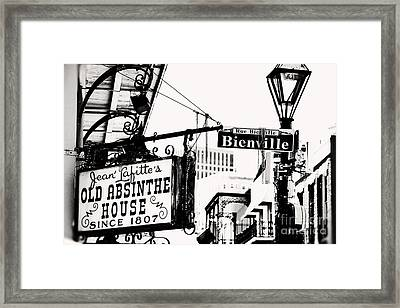 Bourbon And Bienville Framed Print by Erin Johnson