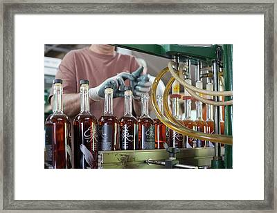 Bourbon Bottling Production Line Framed Print by Jim West