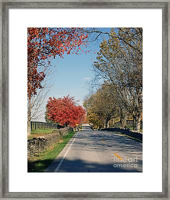 Bourbon County Fall Framed Print by Roger Potts