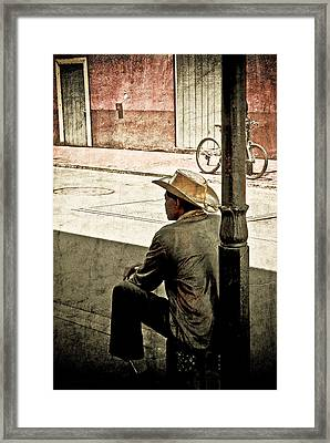 Bourbon Cowboy In New Orleans Framed Print by Ray Devlin