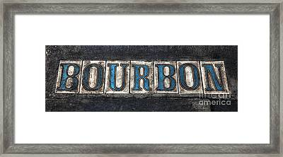 Bourbon Framed Print by John Rizzuto