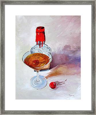 Bourbon Manhattan Framed Print