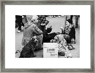 Bourbon St. Performers Framed Print by John Rizzuto