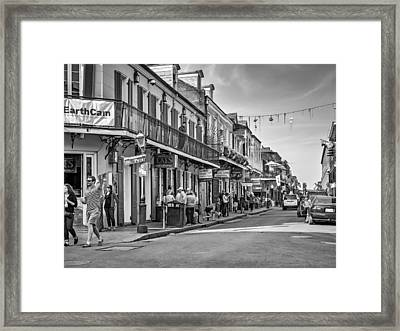 Bourbon Street Afternoon Bw Framed Print by Steve Harrington