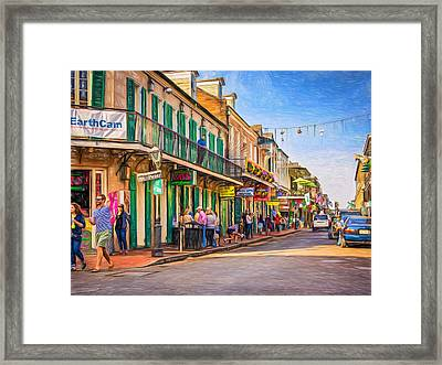 Bourbon Street Afternoon - Paint Framed Print by Steve Harrington