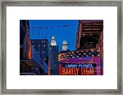 Bourbon Street And Cbd Lights  Framed Print by Kathleen K Parker