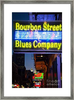 Bourbon Street Blues Company Framed Print