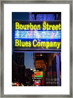 Bourbon Street Blues Company Framed Print by Inge Johnsson
