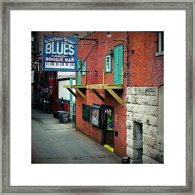 Bourbon Street Blues Framed Print by Linda Unger