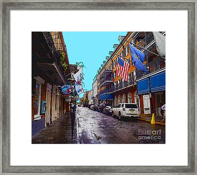 Bourbon Street Framed Print by Carey Chen