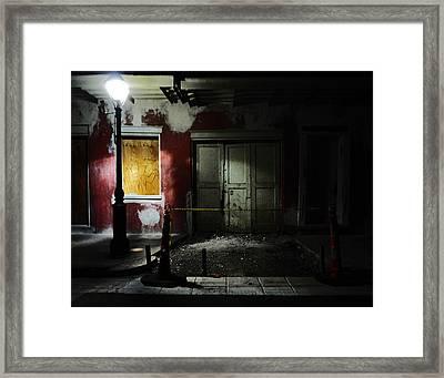 Bourbon Street Cemetery Framed Print by Louis Maistros
