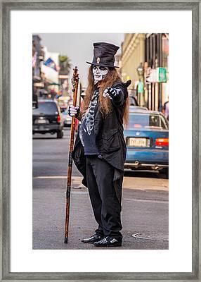 Bourbon Street Denizon Framed Print by Steve Harrington