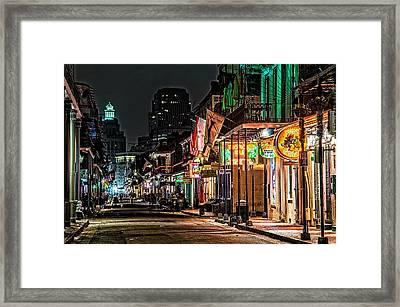 Bourbon Street Glow Framed Print