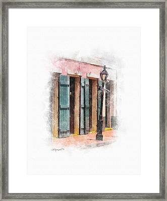 Bourbon Street Lamp Post Framed Print