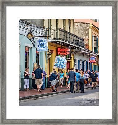Bourbon Street - Let The Good Times Roll Framed Print by Steve Harrington