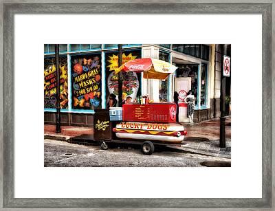 Bourbon Street Lucky Dog Framed Print