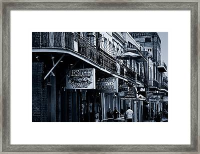 Bourbon Street New Orleans Framed Print by Christine Till