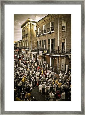 Bourbon Street Party Framed Print by Ray Devlin