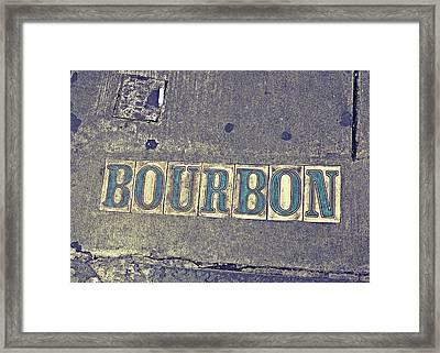 Bourbon Street Tiles Framed Print