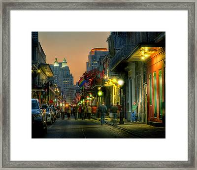 Bourbon Sunset Framed Print