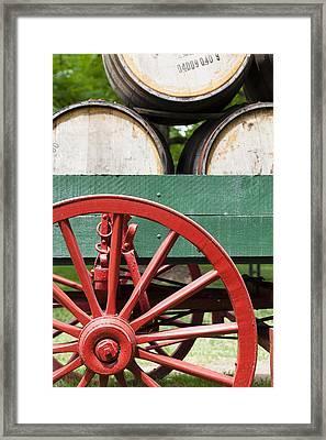 Bourbon Wagon Framed Print