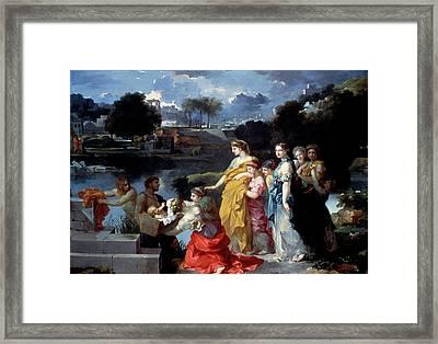 Bourdon Finding Of Moses Framed Print by Granger