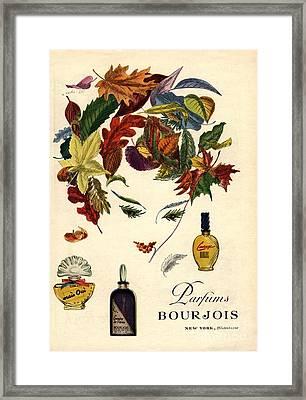 Bourjois 1940s Usa Womens Framed Print by The Advertising Archives