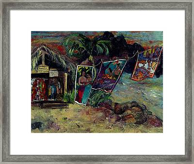 Boutique Gauguin Framed Print